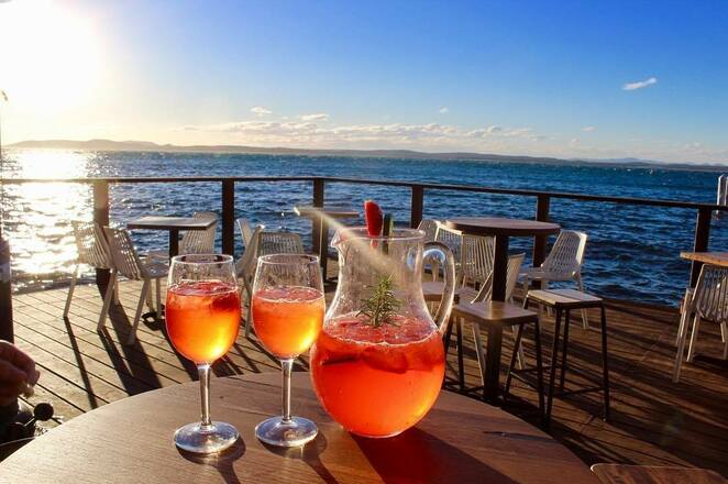 little beach boathouse, little beach, nelson bay, romantic, valentines day, NSW, port stephens, restaurants with views, dinner, overlooking water, modern australian cuisine,