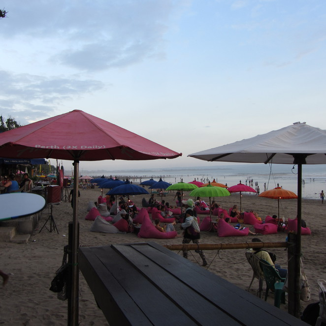 Lively beach at Seminyak