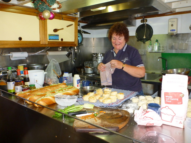 lunch, galley, One and All, tall ships