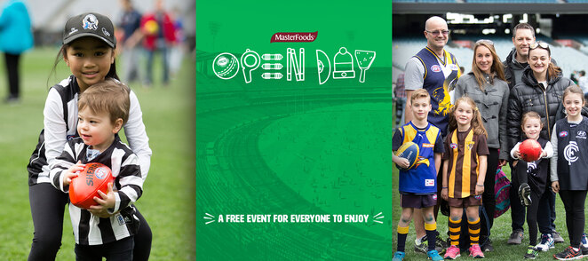 MCG, Open day, 2019, free, melbourne, afl, cricket, richmond, free for kids, family, fun day, school holidays, melbourne cricket ground, things to do, what to do, kids, children, fun, face painting, footy, football,