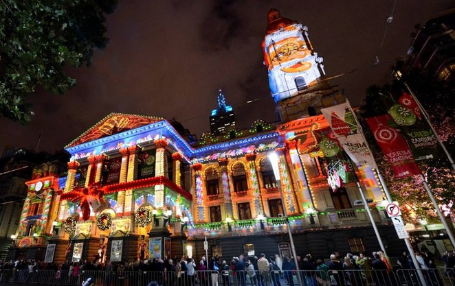 Melbourne Town Hall, Christmas in Melbourne, Sound and light show, Christmas lights, Melbourne Christmas Festival,