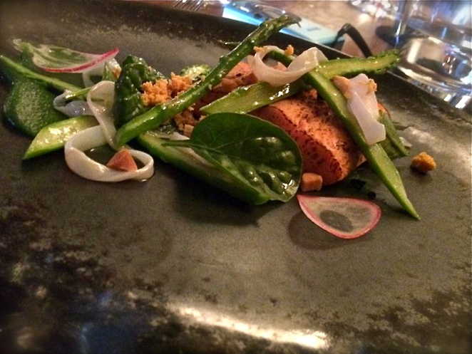 Ocean Trout, Red Cabbage Food and Wine