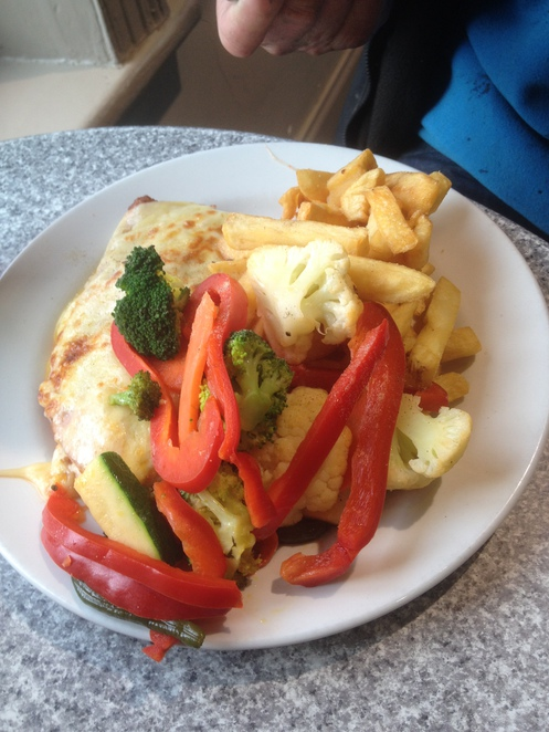 Parmi and vegetables, Railway Hotel