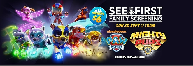 paw patrol,movies, kids, children, family, movies, cinema, rainy day, limelight cinema, canberra, ACT, school holidays, september, october, 2018,
