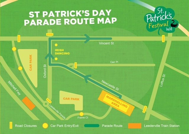 Route,for,the St, Patricks,Day, Parade