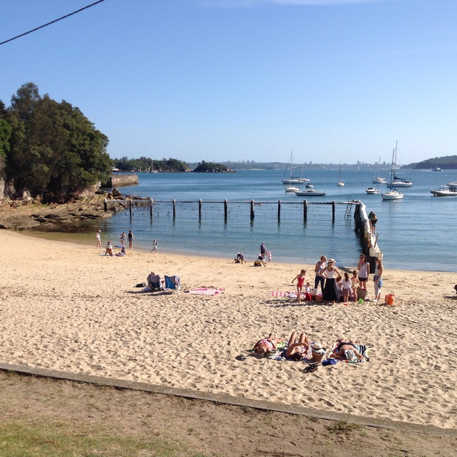 Safe swimming area at little manly beach