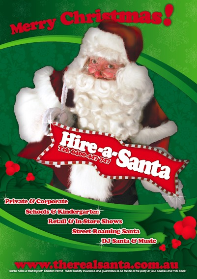 santa for hire, the real santa