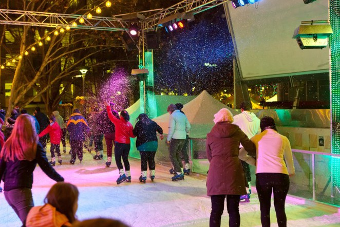 skate city canberra weekend winter wonderland snow ice