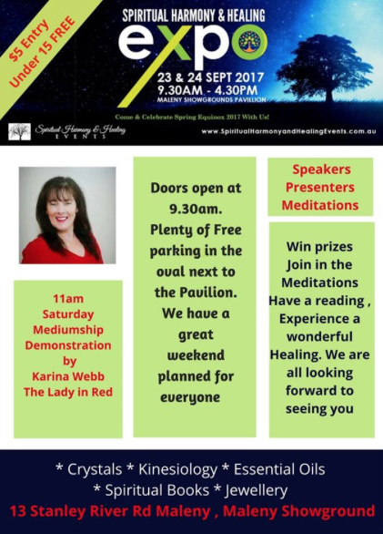spiritual Harmony & Healing Event Maleny, psychic fair, spiritual, angels, tarot, wicca, kinesiology, belly dancing, the pie guy