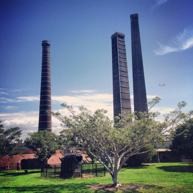 sydney park, outdoors, recreation, st peters, alexandria, nature, leisure, relax, chimney, towers, historic