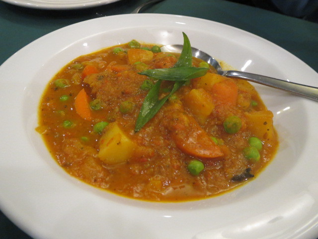 The Gurkha's Restaurant, Mushroom Potato Curry, Adelaide