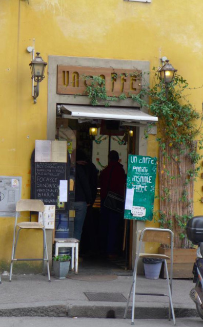 un caffe, florence, italy, food, italian food, travel, cafe, hole in the wall, coffee, italian, off the beaten path
