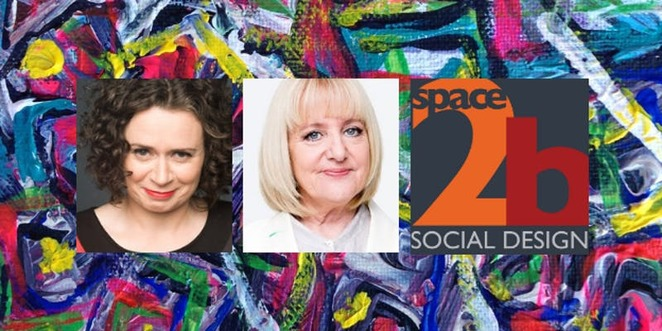 We are connected Space2b fundraising Judith Lucy Denise Scott