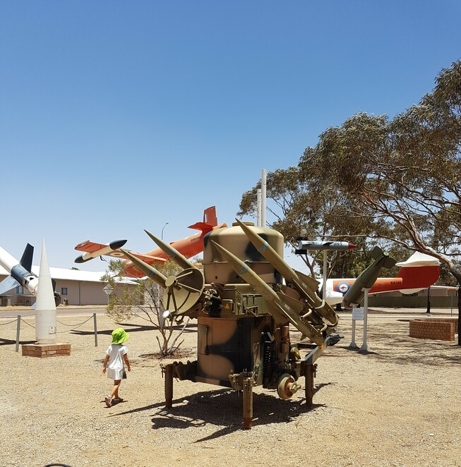 Woomera, outdoor exhibition, exhibition, South Australia, rockets, missiles