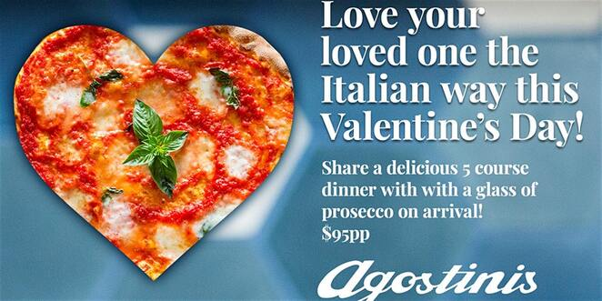 agostonis, canberra, kingston, italian restaurant, valentines day, 2020, whats on, things to do, romantic dinner, italian, ACT,