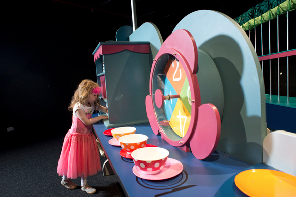 Alice's Wonderland, exhibition, Museum Victoria, Scienceworks, Mad Tea Party