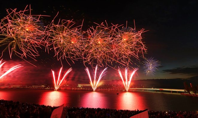 australia day, canberra, ACT, events, firework events, whats on, family, kids, family friendly, lake burley griffin, viws, events act,