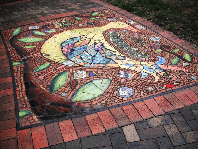 Birds of Peace mosaic, Peace Park, Chippendale