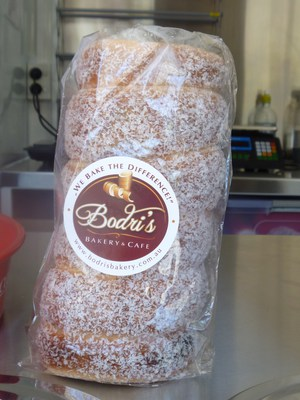Bodri's Bakery and Cafe Food Truck, Lucaffe coffee, chimney cakes, Adelaide Food Trucks, Victoria Square, Hungarian street food in Adelaide, coconut chimney cake