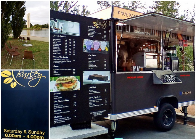 burley grind, coffee cart, elixer, canberra, ACT, lake burley griffin, lake burley griffin cycling loops, central loop, walking paths,