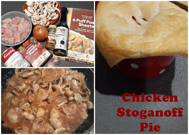 chicken thighs, recipes, chicken strogonoff pies, recipes, budget, family, thighs, pie recipes, easy, australia,