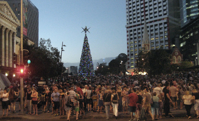 The Christmas Tree In King George Square