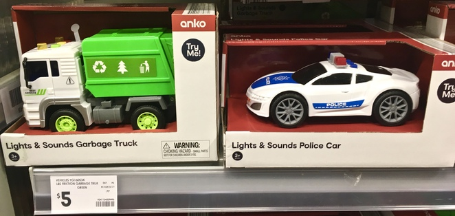 City Garbage Truck Toy, Kmart, Cheap toys, cheap toy cars, image by Jade Jackson