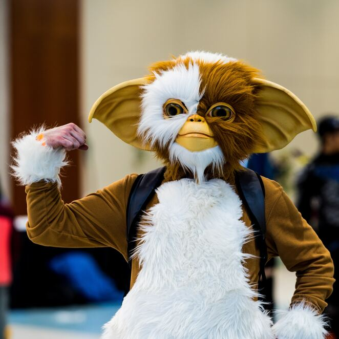 Cosplay, Comic Con, HubCon, Gizmo, article by Jade Jackson, image by