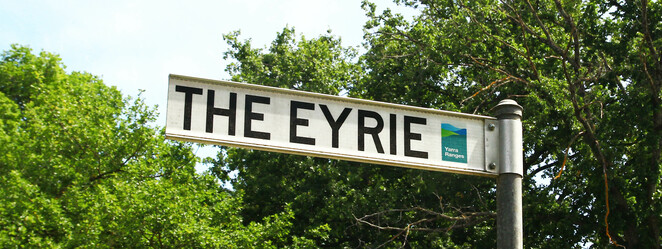 eyrie street sign
