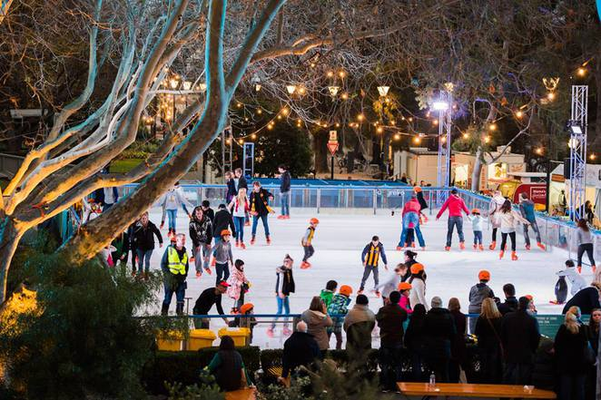 Federation Square ice rink