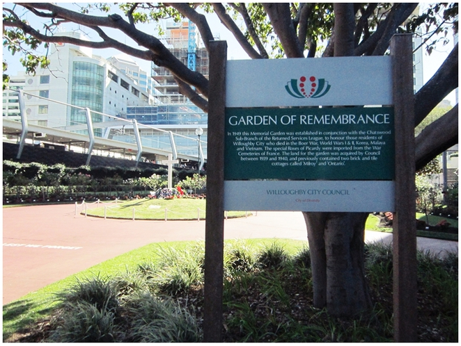 Garden of Remembrance, Chatswood, Willoughby, Anzac Day,