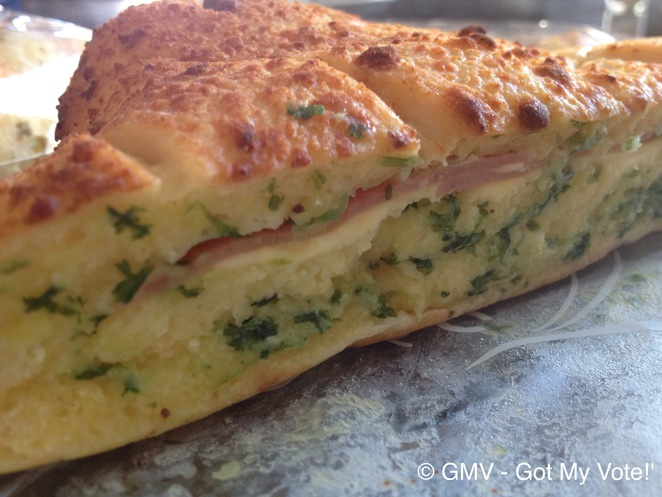 Garlic Bread, Ham & Cheese , Asian