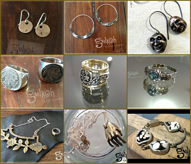 ginkoh, free range jewellery, original artwork, handcrafted jewellery, pottery, clothing, drawings, torquay, stephanie hocking