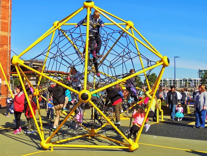 harts mill market, harts mill precinct, harts mill playground, harts mill, wild at heart market, port adelaide inner harbour, port adelaide loop path, play equipment, activities for kids, climbing frames