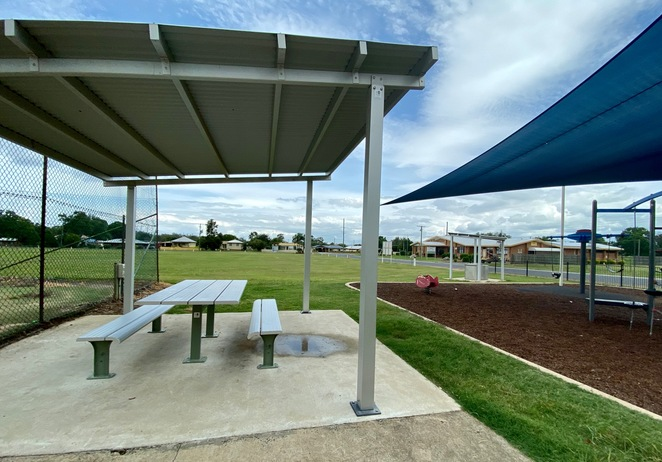 Picnic area at Progress Park