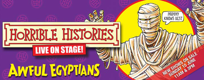 Horrible Histories, QPAC, live show, awful Egyptians