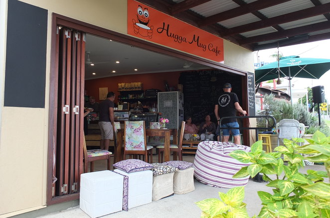 Hugga Mug Cafe, Woombye, Time Warp Festival, Palmwoods, Sweethearts Cafe, Eudlo, historically-inspired murals, Woombye Memorial Park, hug, charming, indoor seating, outdoor seating, snug, cosy, comfy, bean bags, dog friendly, affordable, healthy, breakfast, lunch, coffee