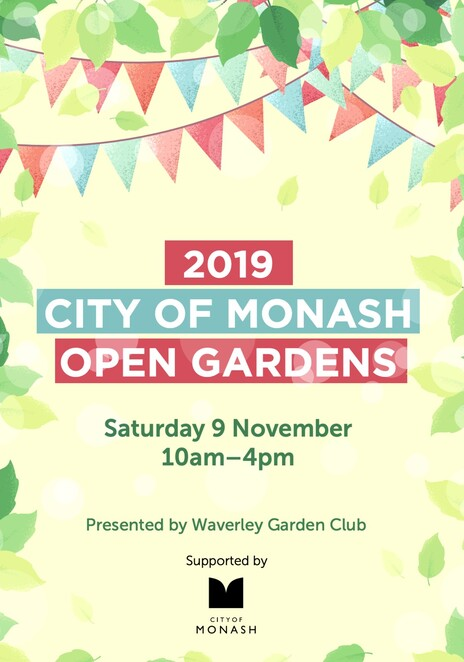 monash open gardens 2019, city of monash open gardens 2019, waverley garden club victoria, city of monash, free garden event, fun things to do, community event, garden lovers, green thumbs, activities, family fun, nature
