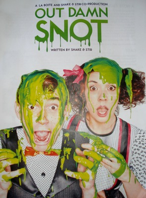 out damn snot, la boite, shake and stir, school holiday theatre, childrens theatre brisbane, school holiday activities, photo by michelle macfarlane
