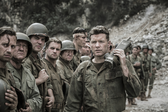Sam Worthington in Mel Gibson's Hacksaw Ridge