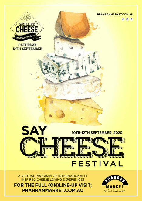 say cheese 2020 free virtual event, community event, fun things to do , cheese festival online for free, prahran market, cheese loving experiences, free cheesy events, around the world with cheese, cooking with kathy, a cheesy greek diner with kathy tsaples, sweet greek, grilled cheese ivitational