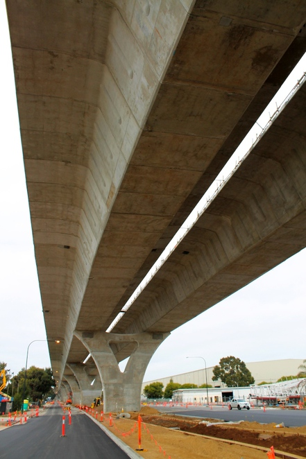 south road superway, superway, south australia, adelaide, construction, segments, roadway, road, traffic, underneath