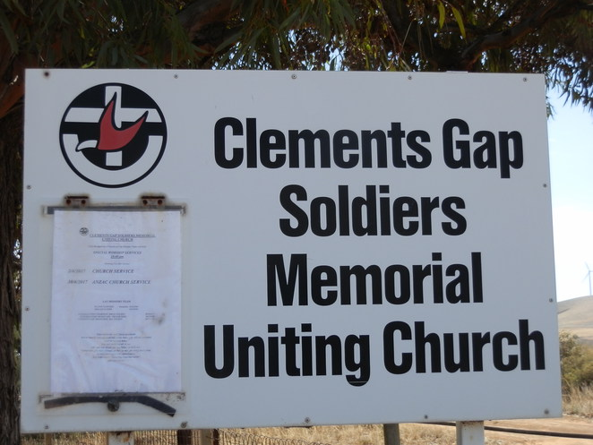 special services for April 2017, clements gap uniting church, hand posted church notice, notice of special worship