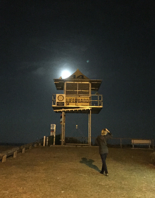 Spooky night scenes at Palm Beach, Gold Coast