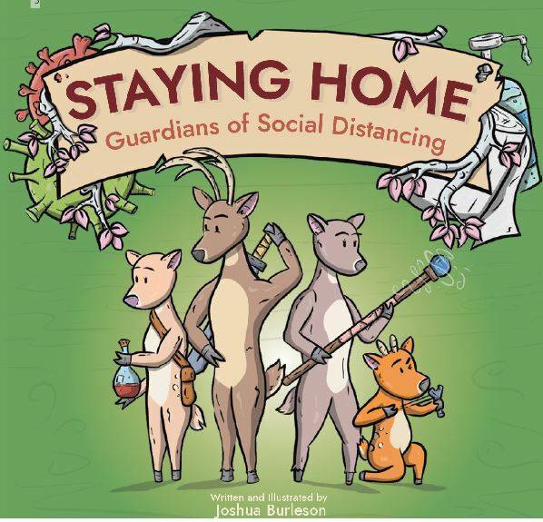 Staying Home, Guardians of Social Distancing, children's books about disease, books about germs for kids, covid, books about COVID-19 for kids