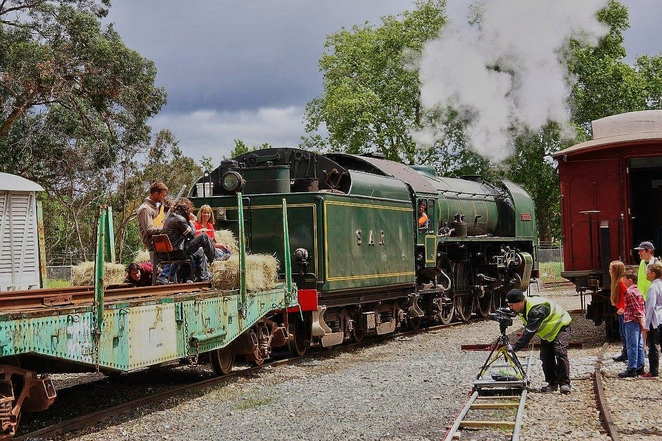 steamranger, steamranger heritage railway, rhythm and rail, adelaide hills, mount barker railway station, mount barker, activities for kids, fun things to do, family entertainment, filming the video
