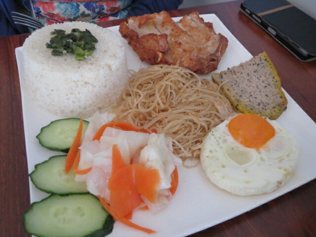 Thanh Viet Restaurant, Pork Chop, Pork Loaf and Egg with Broken Rice, Adelaide