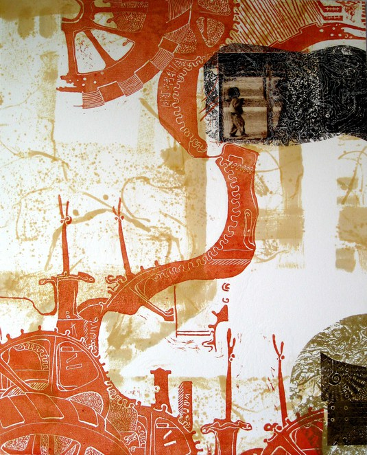 Veronica Thurley, exhibition, Urban Cow, Inked 2, Art, printmaking
