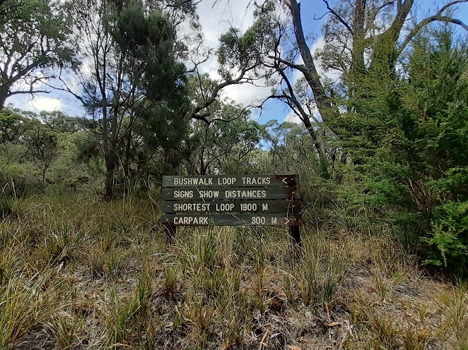 Walking track signs, The Gurdies Nature Conservation Reserve