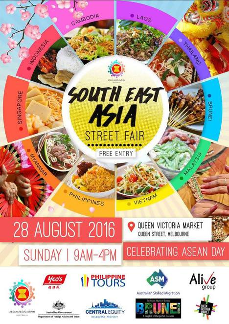 asean street festival, queen victoria market, food and cultures, music, family activities, kids activities, music performances, games and social clubs, multicultural communities, community event, restaurants, shopping
